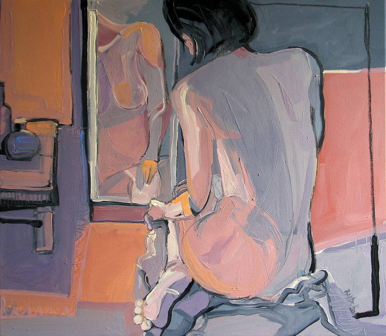 'Nude with mirror II.' / SOLD, Robert Bubel