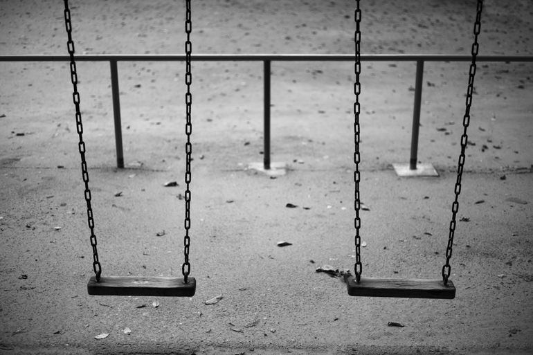 Empty Children's Playground, Not Workrelated