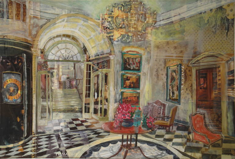 Thames Foyer Savoy Hotel : Saatchi art artist william savage other collage