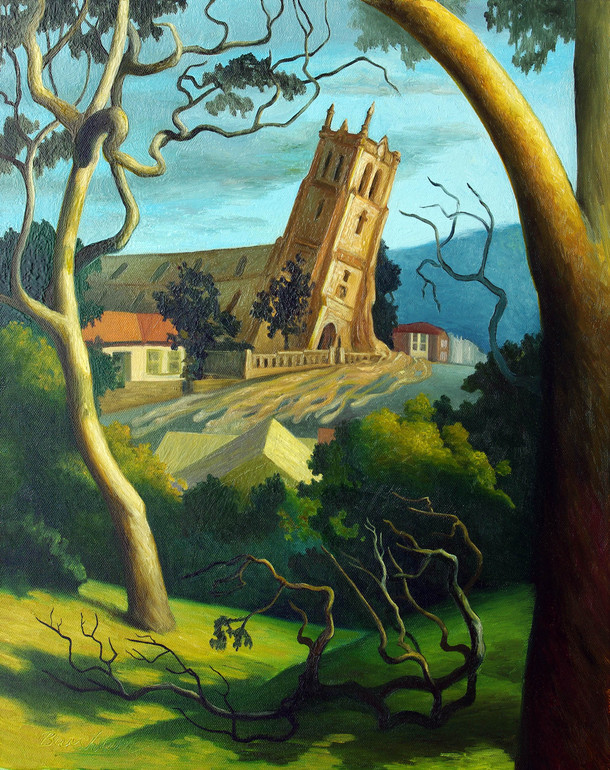 Landscape with Melting Church, Elizabeth Barsham