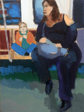 Woman and child/Subway