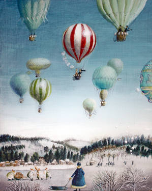 Ballooning over everywhere: Winter