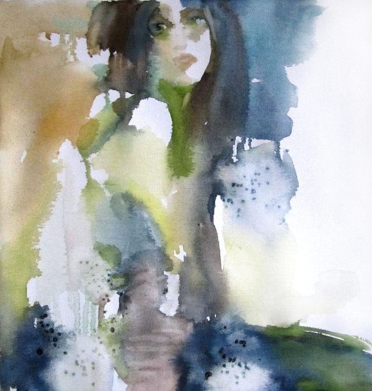 Spirit of Nature - watercolor on canvas, Sylvia Baldeva