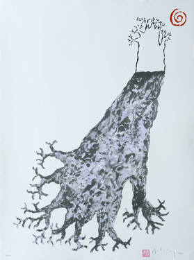 "Saatchi Art Artist James Delaney; Printmaking, ""Baobab shadow"" #art"