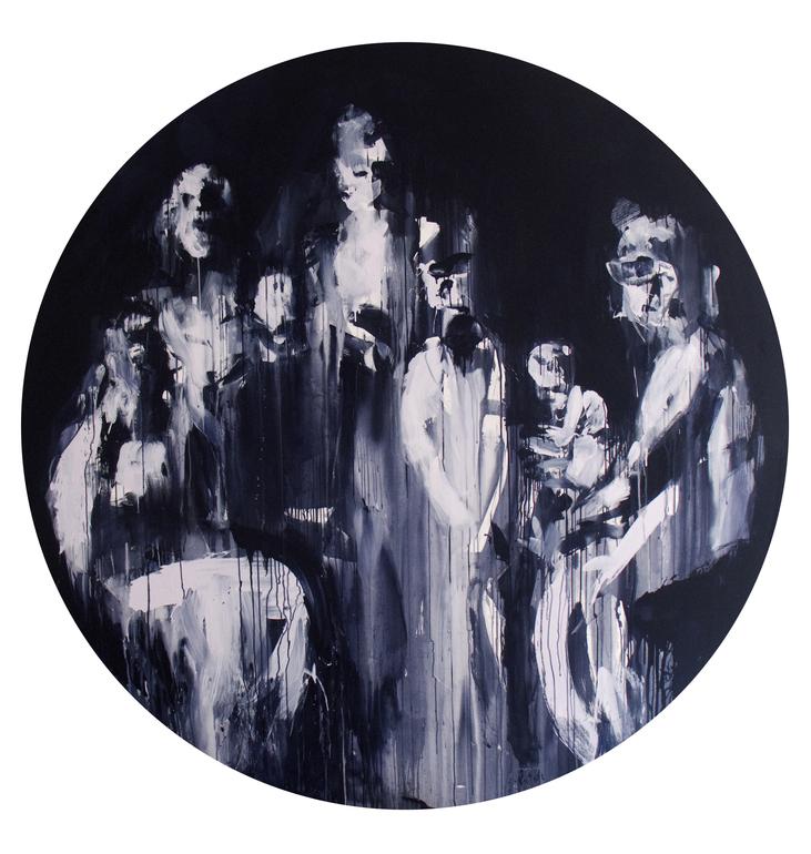Saatchi art artist miroir noir acrylic painting politik for Miroir noir watch online