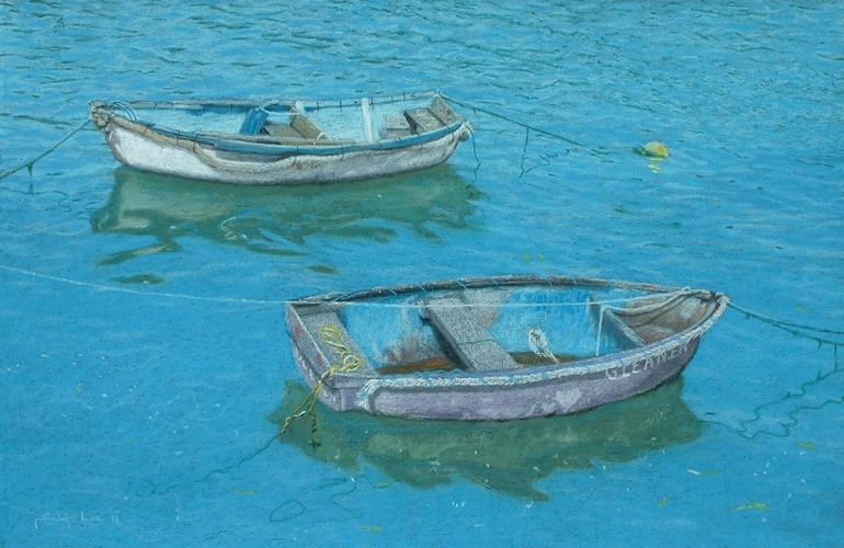 2 rowing boats, Philip Lee