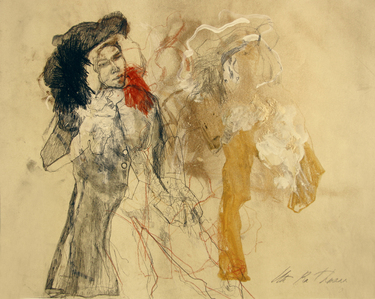 "Saatchi Art Artist Ute Rathmann; Drawing, ""Tribute to James Goldstein XII"" #art"