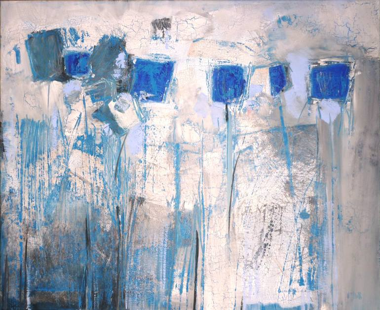 Composition (Blue Flowers), Wayne Sleeth