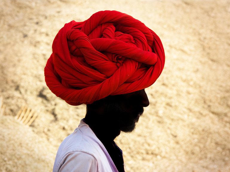 red turban, Arup Ghosh