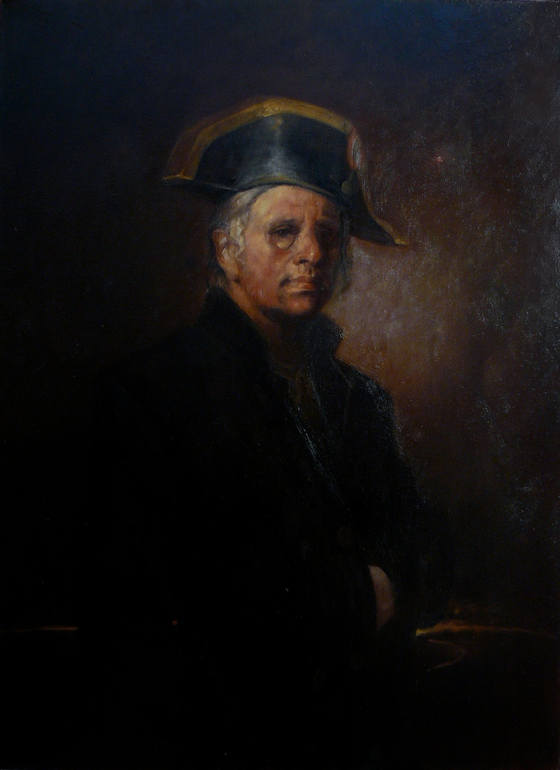 Portrait of Odd Nerdrum (SOLD), Richard T Scott
