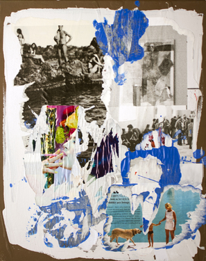 "Saatchi Art Artist Julius Kalamarz; Collage, ""Vietato Fumare"" #art"