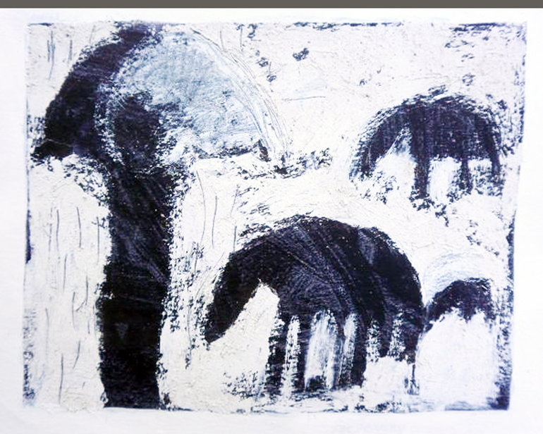 Herder in the Rain, Pam Guhrs - Carr