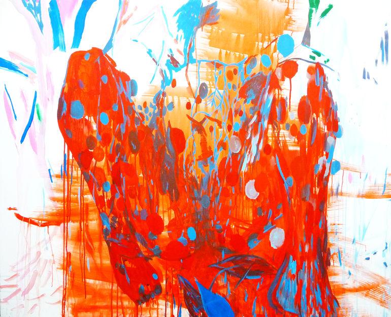 Saatchi art artist buc ta miguel acrylic 2013 painting for C est un jardin