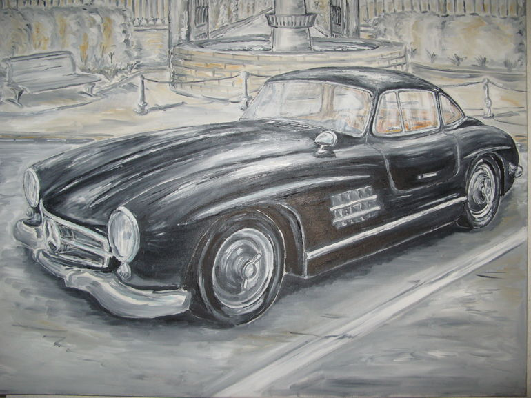 Saatchi art artist martin wencel oil 2013 painting for Mercedes benz white paint