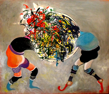 "Saatchi Art Artist Alexandra Moldovan; Painting, ""You explode I implode"" #art"