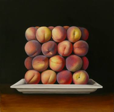 "Saatchi Art Artist Antonia Williams; Painting, ""square peaches"" #art"