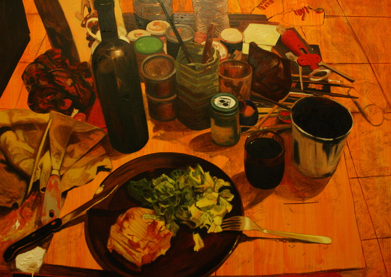 acrylic dinner, Gianluca Stumpo