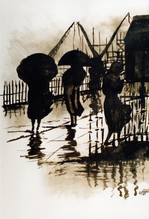 Walking in the Rain, H Kemp